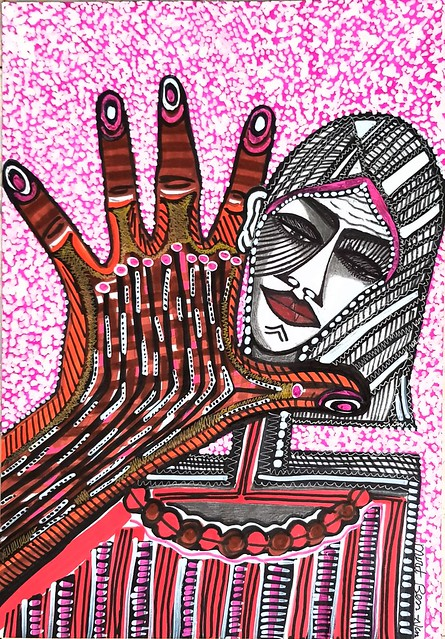 Israeli painter selling modern drawings Mirit Ben-Nun