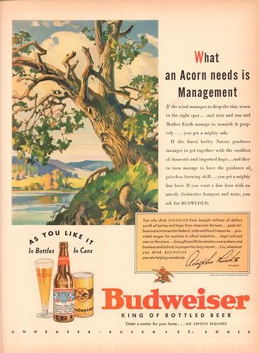 1937 Budweiser Beer Advertisement Life Magazine September 13 1937