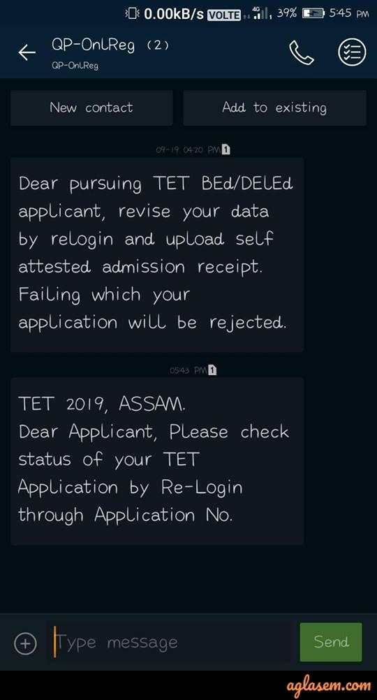 Notice for TET applicant
