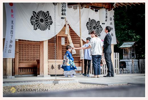 渋川神社で七五三 愛知県尾張旭市 お参り風景