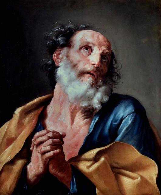IMG_1546 X d'après Guido Reni 1575-1642 Bologne Saint Pierre pleurant sa faute  Saint Peter crying his fault  (17è-18è)  Cherbourg Musée des Beaux Arts