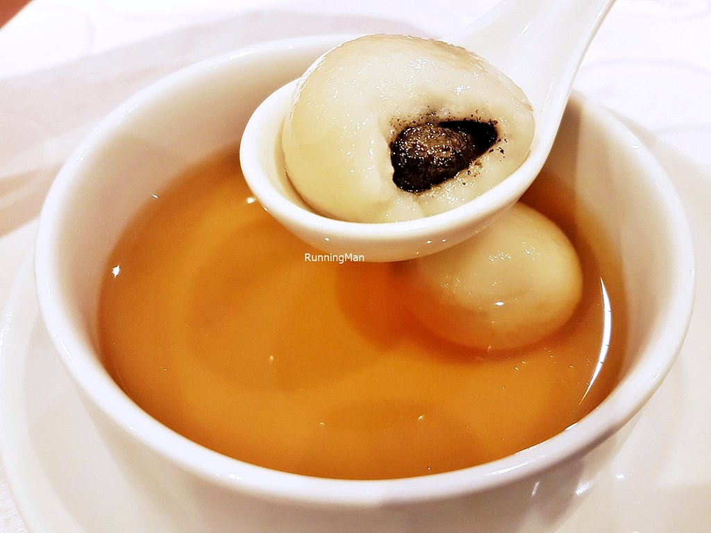 Glutinous Black Sesame Rice Ball In Ginger Soup