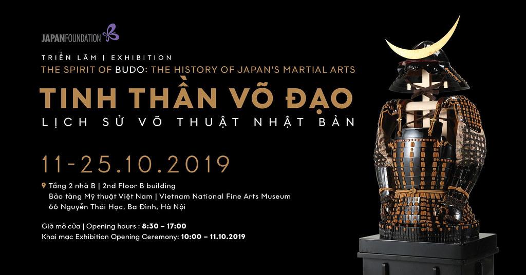 TCBC Triển lãm tinh thần và lịch sử võ sĩ đạo Nhật Bản 11/10/2019