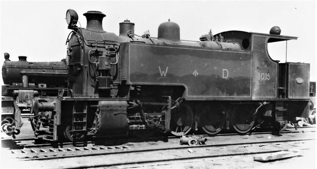 Lebanon Railways - Haifa-Beirut-Tripoli Railway - HBT (WD, ex-Iraqi State Railways) 2-8-2T steam locomotive Nr. 1015 (Hudswell Clarke Locomotive Works, Leeds 1678 / 1937)