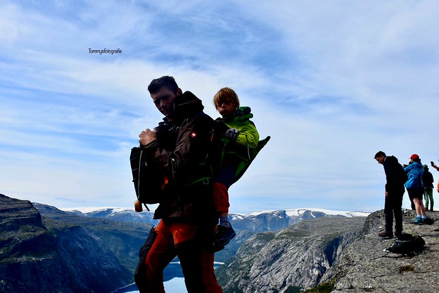 From my hike to the Trolltunga, I was with my 2 smallest sons, the smallest with 6 walked the 28 km, but the one with Down syndrome(9)only walked up, and I carried him back