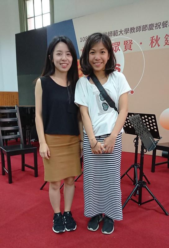 文薈雅集主辦人陳佩汝(左)與吳凡棋(右)。圖/孫亦凡攝