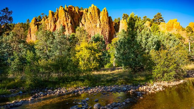 Orange Rock Spires along El Rito Creek