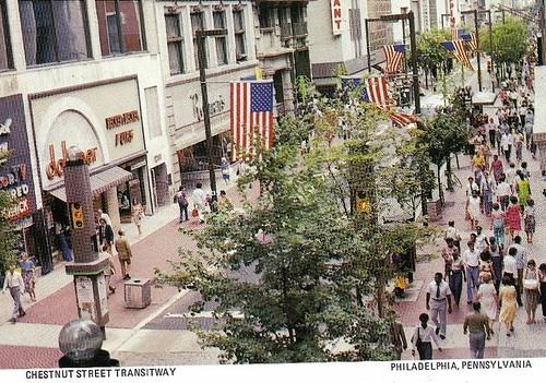 Chestnut Street Transitway, Philadelphia, postcard