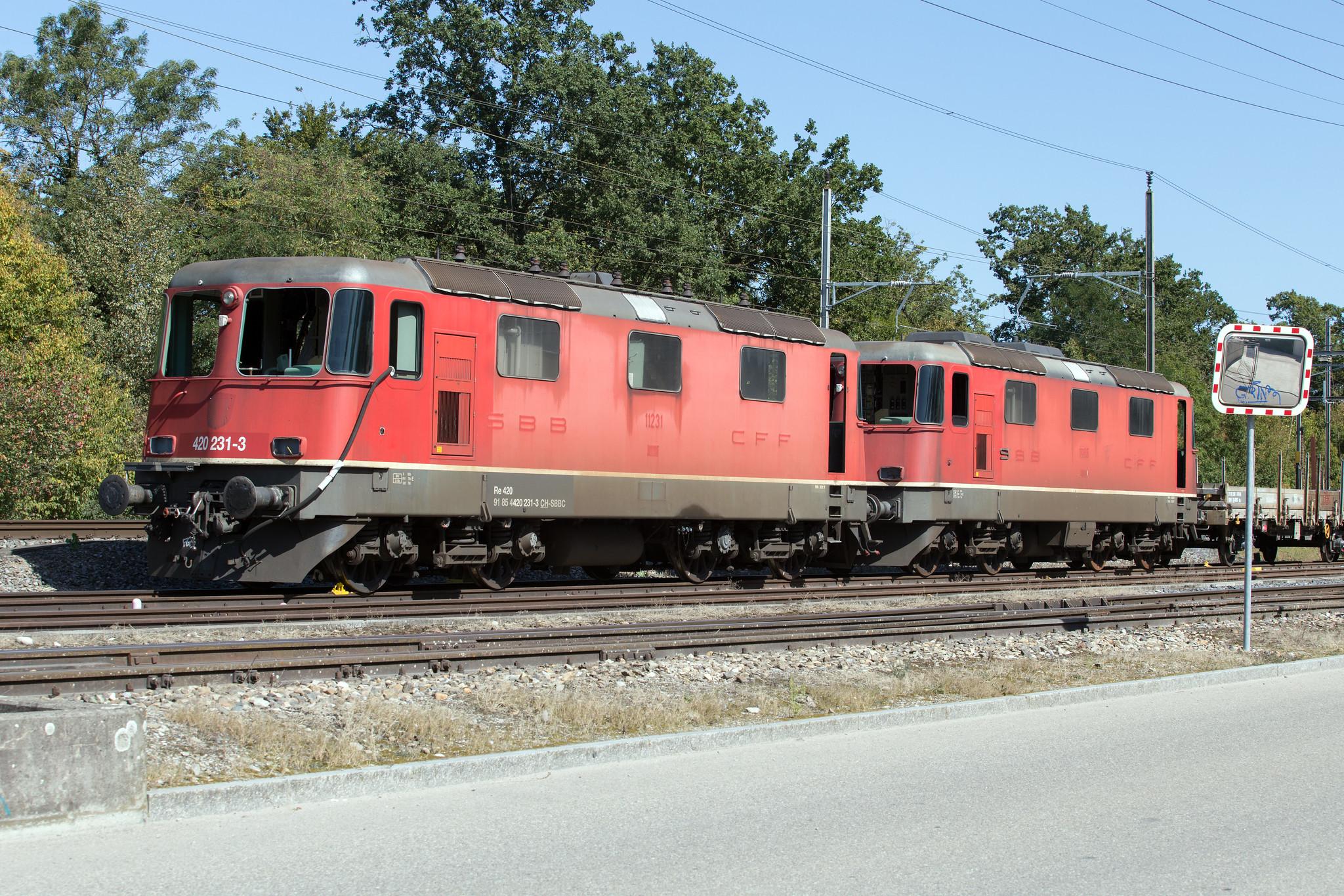 SBB Re 4/4 420 231 + 11166 Kaiseraugst