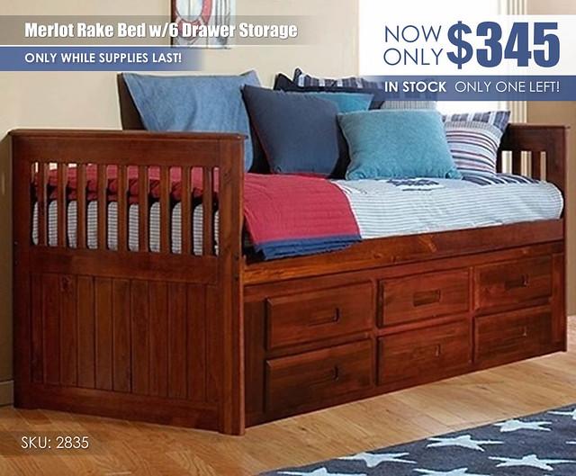 Merlot 6 Drawer Storage Bed Special_2835