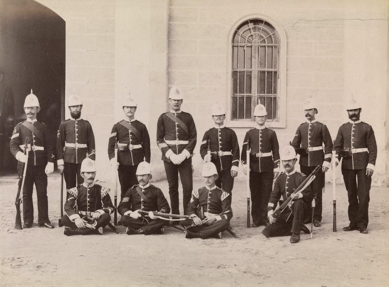 30. Солдаты из лёгкого пехотного полка герцога Корнуольского, участвовавшие в англо-египетской войне