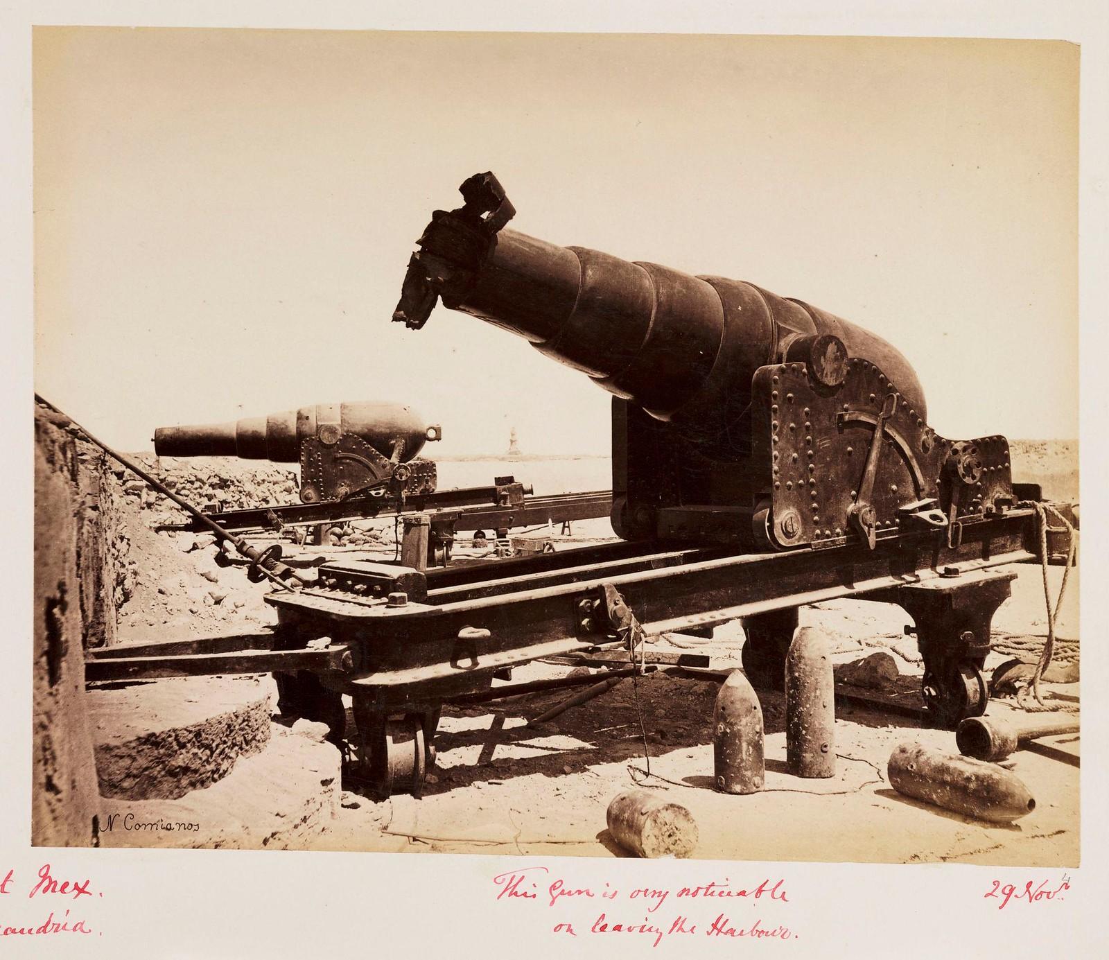 04. Поврежденная артиллерия, Форт Мекс, Александрийская гавань, Египет, 12 ноября