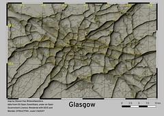 Glasgow and Environs (QGIS > Blender > QGIS)