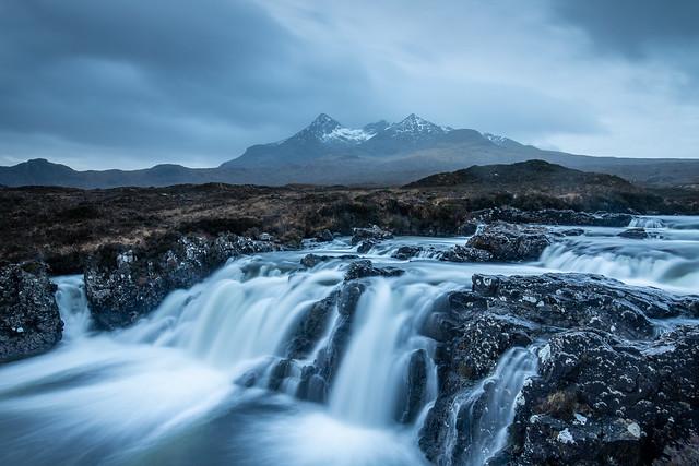 Allt Dearg Mor, Waterfall, Cuillin Ridge Sligachan Isle Of Skye