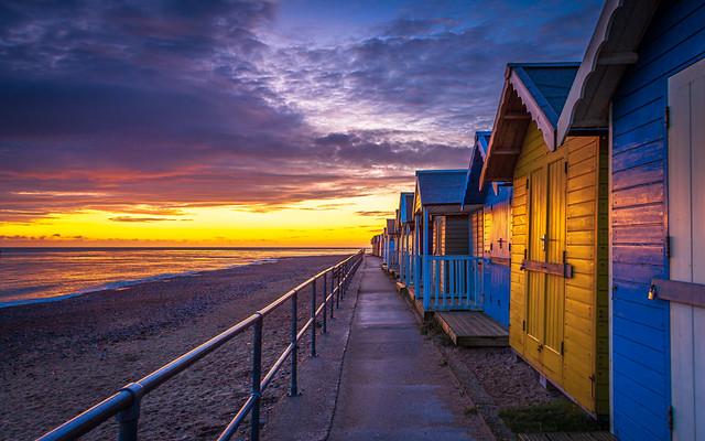 Cromer Beach Huts at Dawn