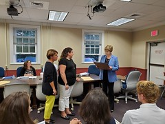 Rep. Zawistowski presented a citation to members of Suffield FECS in recognition of their efforts to assist children with Autism