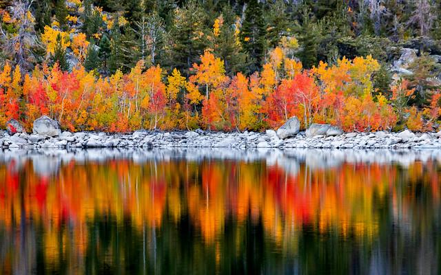 Fall Colors at Lake Sabrina in the Eatsern Sierra