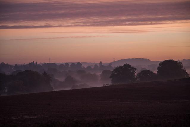 Sunrise mist and haze