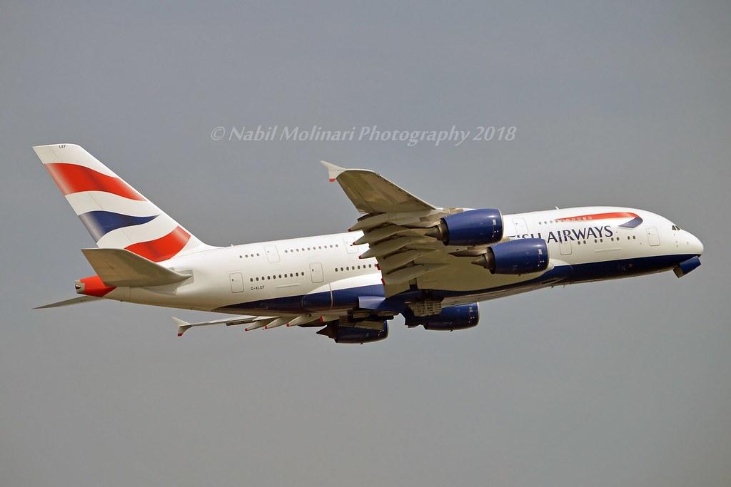 British Airways G-XLEF Airbus A380-841 cn/151 std at CHR 28 Jul 2020 @ EGLL / LHR 27-05-2018