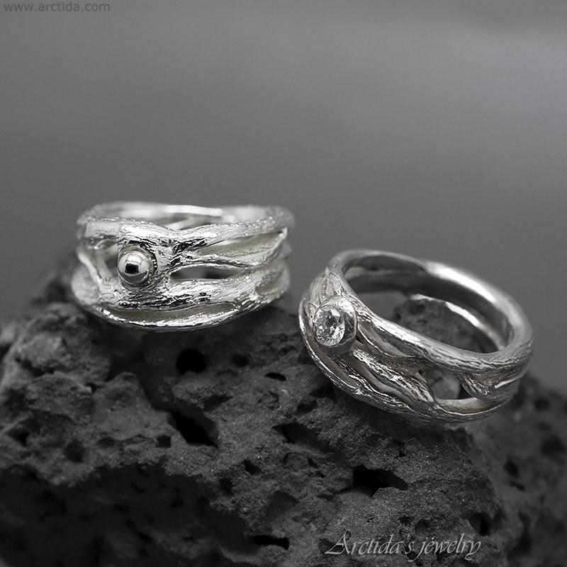 Pagan Wedding Ring Elvish Ring Twig Ring Fantasy Engagemen