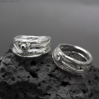 Pagan wedding ring Elvish ring Twig ring Fantasy engagement ring Entwined tree branch ring band Nature unique engagement ring