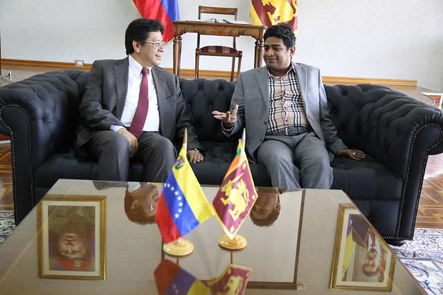 Venezuela recibe a ministro de la República de Sri Lanka para fortalecer lazos de cooperación