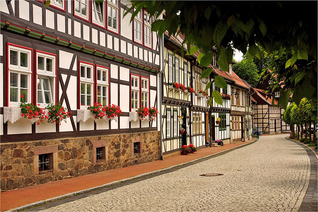 Half-timbered houses in Stolberg