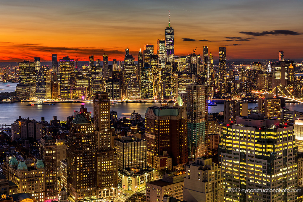 New York City sunset.