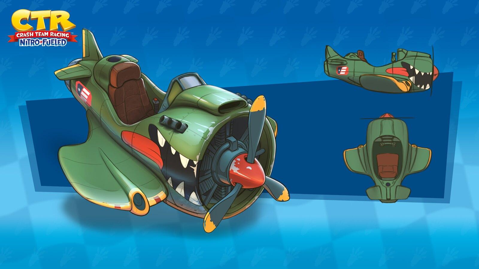 Crash Team Racing: Nitro Fueled - Firehawk Concept Art