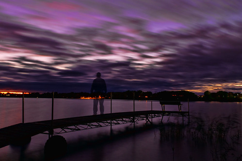 longexposure river foxriver wisconsin depere sunset dock selfportrait sky