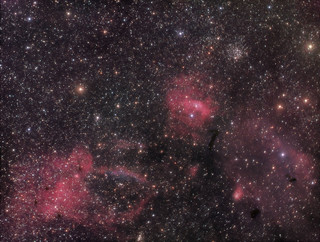 NGC7635 Bubble Nebula and Friends