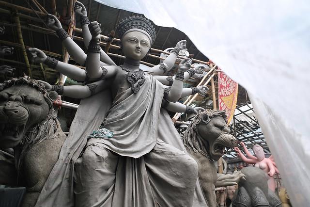 Durga Pauja in Bengal - Kalighat Patuapara