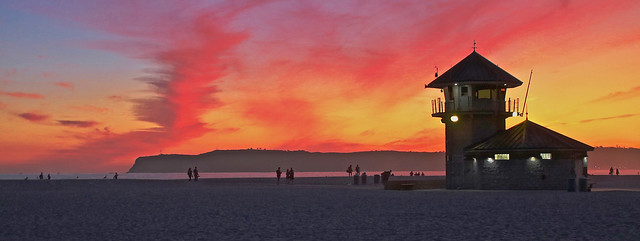 Brilliant Sunset at the Coronado Life Guard Station