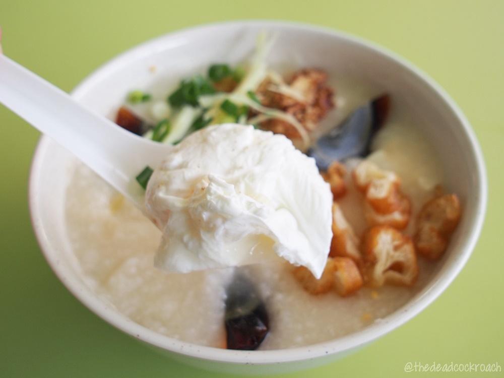 chinatown, chinatown complex, food, food review, review, singapore, smith street, triple egg porridge, weng kiang kee porridge, 荣强记粥品,