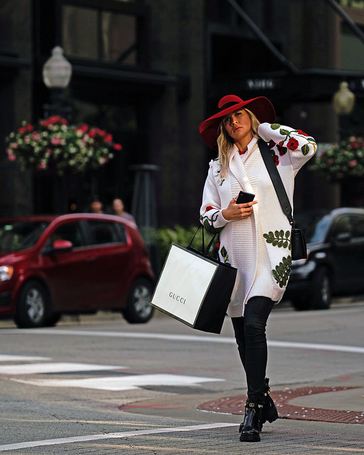 Gucci Girl in Scarlet Hat