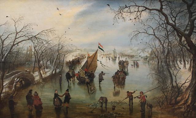 Adriaen Pietersz van de Venne (1589 - 1662) - l'inverno (Der Winter 1614) dimensioni 44,2 x 69,1 cm  - Gemäldegalerie, Berlin