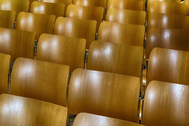 Chairs in a church
