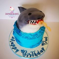 Shark Attack Birthday Cake