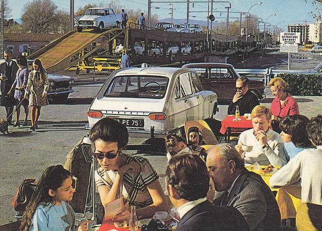 Postcard SNCF Train Auto Couchette Collection ''La Vie du Rail'' 1970a