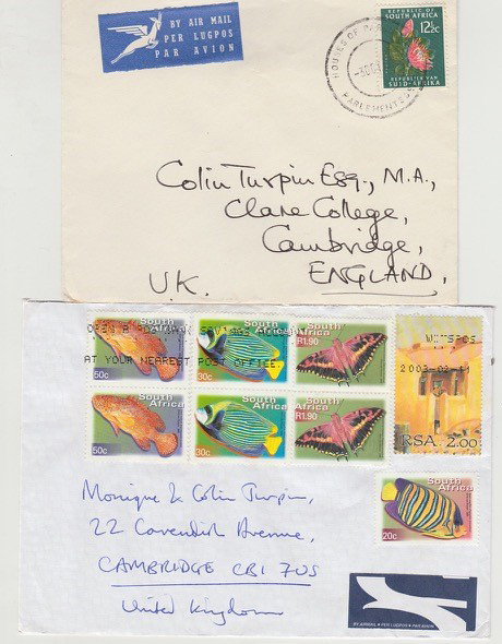 Mr Colin Turpin Philatelic Covers