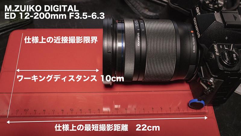 ED12-200mmの最短撮影距離は仕様以上