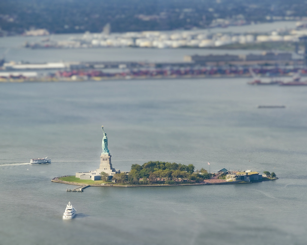 The Statue of Liberty and New Jersey