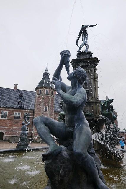 Fontaine de Neptune, 1623, Adrian de Vries, château de Frederiksborg (XVIe-XVIIe), Hillerød, Sélande, Danemark.