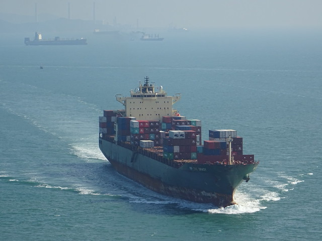 Container Ship in Hongkong
