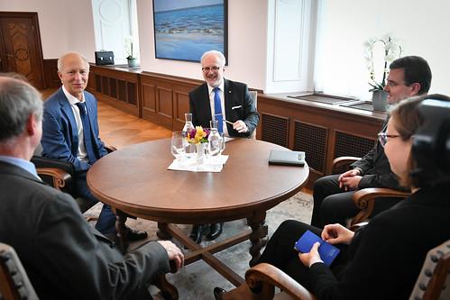 Valsts prezidenta Egila Levita tikšanās ar profesoru Dr. habil. philol. Andreju Veisbergu