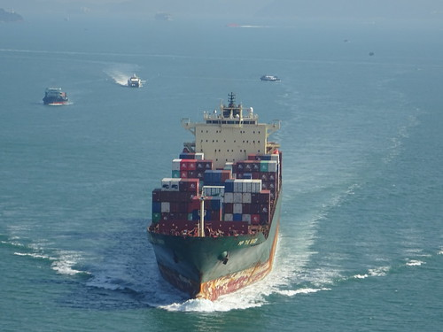 Container Ship in Hongkong