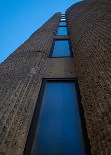 Blue Hour Corduroy Concrete Column