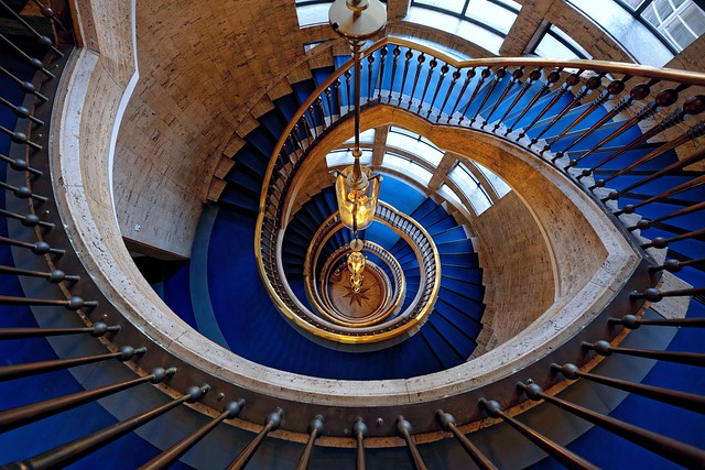 Lines of Gold | Blue Stairs