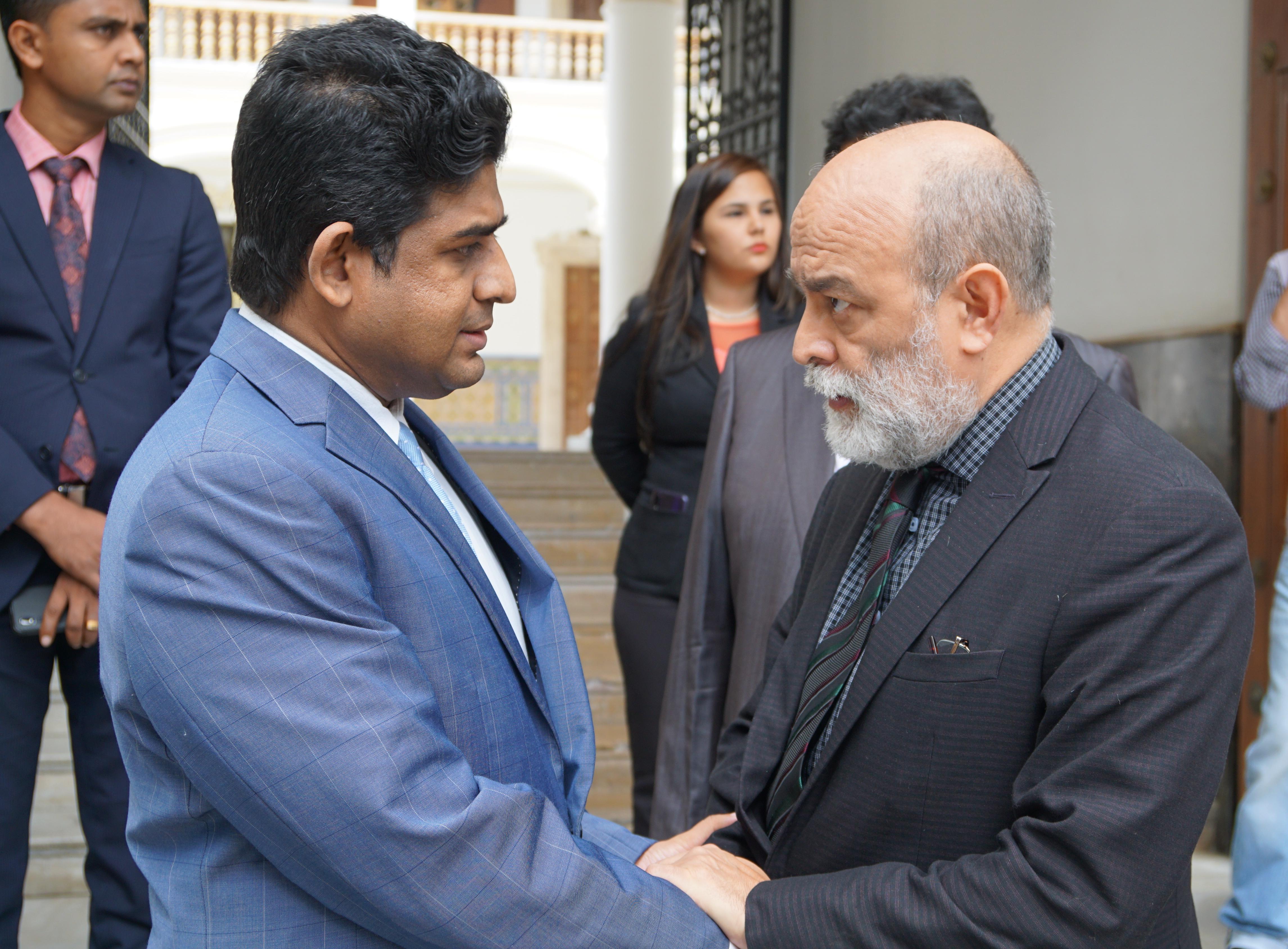 Encuentro entre el Viceministro para Asia, Medio Oriente y Oceanía, Rubén Molina y el Ministro de Estado para Asuntos Exteriores de Sri Lanka, Vasantha Senanayake