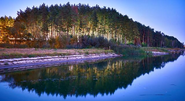 Seversky Donets river bank in Belgorod region